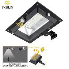 <b>T SUNRISE</b> 30 LED PIR Motion Sensor Solar Lights Gutter Solar ...