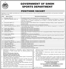 jobs in govt of sindh sports department published in dawn govt of sindh sports department