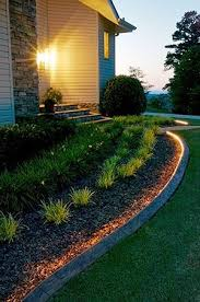 clever use of rope lighting as landscape lighting makeyourneighborsjealous area lighting flower bed