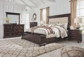 Brynhurst Dark Brown <b>8 Pc</b>. Dresser, <b>Mirror</b>, Chest, King ...