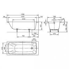 <b>Ванна стальная Kaldewei</b> - Cayono Мод.750 170x75 Anty-Sleap ...