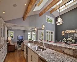 vaulted ceiling lighting ideas contemporary kitchen skylights recessed lights cathedral ceiling lighting ideas