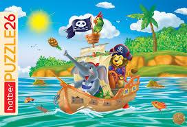 "<b>Пазлы Hatber</b> ""<b>Забавные</b> пираты"" 26 элементов в <b>рамке</b> ..."