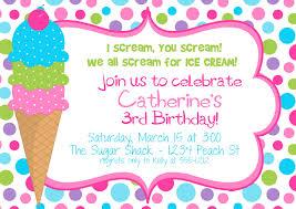 ice cream themed birthday party invitation colorful polka dot ice cream themed birthday party invitation colorful polka dot background for girls designed by burleygirldesigns