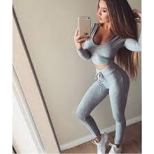 <b>Women Sexy</b> Running <b>Sports Suit</b> Fitness Gym Tracksuit <b>Women</b> ...