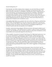 sample college entry essays