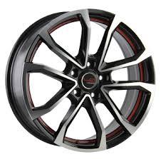 LegeArtis GM512 7.5x18/5x115 D70.3 ET45 BKFRS Wheel ...