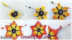 <b>Серьги</b> | <b>Seed bead</b> flowers, Beaded flowers, Beading netting