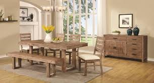 chair dining room tables rustic chairs: coaster elmwood rustic table and chair set with dining bench coaster fine furniture
