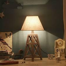 Винтаж страны из дерева ручной работы Ткань LED E27 ...