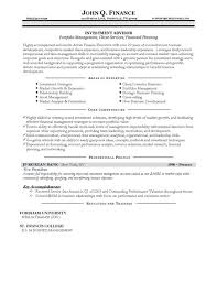 investment advisor resume example resume examples for banking jobs