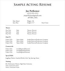 Administrative Assistant Resume  beginner acting resume template