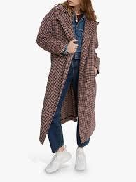 <b>Levi's Long Wool</b>-Blend <b>Coat</b>, Multi at John Lewis & Partners