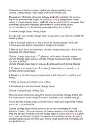 calaméo climate change essay topic ideas and some writing tips