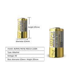 Cncool 4pcs/lot <b>4LR44 Primary</b> Dry Batteries 476A L1325 <b>6V</b> ...