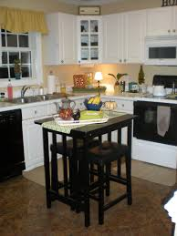small square kitchen table: black wooden movable kitchen island with stools small dark butcher block table crate and barrel kitchen