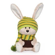 <b>Мягкая игрушка Budi</b> Basa col <b>Заяц</b> Антоша в шапочке и свитере ...