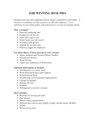 winning resume examples qhtypm winning resumes examples