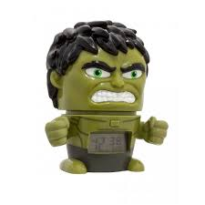 <b>Часы Марвел</b> (<b>Marvel</b>) <b>Будильник</b> BulbBotz минифигура Hulk Халк ...