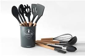 <b>Upspirit 12pcs/set Cooking Utensil</b> Set Silicone Spaghetti Tong ...