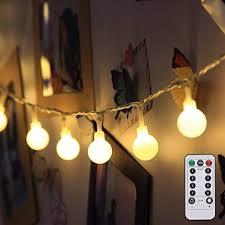 LE Globe <b>String Lights</b>, Battery Powered, <b>Ball String Lights</b> with ...
