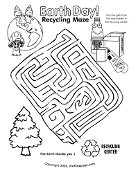 Small Picture Earth Day Recycling Maze Activity Sheet Free Coloring Pages for
