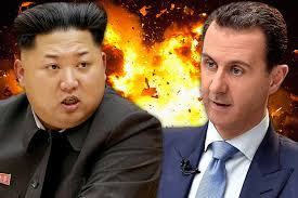 Image result for duel between Kim and Trump over in Korea