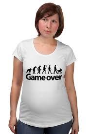 Футболка для беременных <b>Game Over</b> (Игра Окончена) #661473 ...