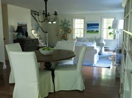 dining table parson chairs interior: white parsons chairs with pedestal dining table and black chandelier
