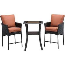 wicker bar height dining table: strathmere allure  piece all weather wicker square patio bar height dining