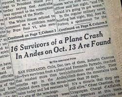 「Uruguayan Air Force Flight 571」の画像検索結果
