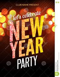 lets celebrate new year party design flyer template lets celebrate new year party design flyer template multicolored bokeh lights background holiday festive