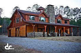 barns living quarters custom timber frame