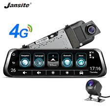 """<b>Jansite</b> 3G <b>4G</b> WIFI Car DVR <b>10</b>"""" <b>Touch</b> Screen Dual Lens Android ..."""