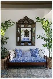 british colonial caribbean decor blue and white daybed decor with dark wood ornate furniture caribbean furniture