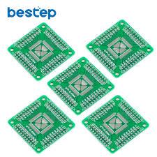 <b>5PCS QFP</b>/<b>TQFP</b>/LQFP Adapter Board Compatible with 16 80 pin ...
