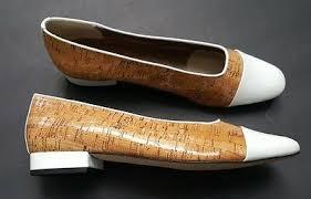 Vaneli Women's 11 <b>Narrow</b> Dress <b>Shoes White Patent</b> w Cork Accents