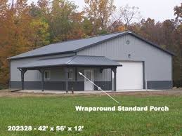 metal shops living quarters wrap around porches covered patios metal steel roofing post