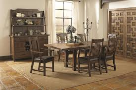 chair dining room tables rustic chairs: coaster padima rustic rough sawn dining table with extension leaf and dark metal bracket hardware coaster fine furniture