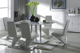 circle dining table white leather