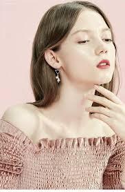 2019 Qinling <b>Simple</b> And Generous <b>Geometric Earrings</b>, Fresh ...