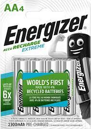 Energizer Rechargeable Batteries <b>AA</b>, Recharge Extreme: Amazon ...