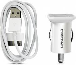 Зарядное устройство <b>Crown</b> CMCC-8324 2 <b>USB кабель</b> iPhone 5 ...