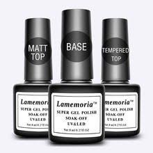 Lamemoria <b>Top</b> Base Coat Gel Polish Sealer Soak Off Matt ...