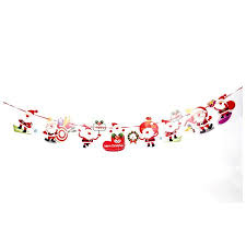 2019 hot selling <b>Christmas decoration</b> stana <b>cartoon</b> flag bunting ...
