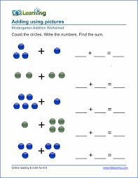 Free Preschool & Kindergarten Simple Math Worksheets - Printable ...Kindergarten math worksheet
