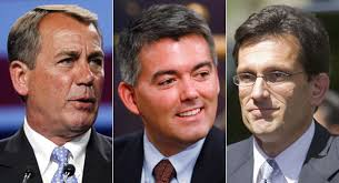 Send to a friendGOP defiant and defensive after loss - 110525_boehner_gardner_cantor_ap_328