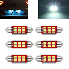 6x 12SMD 6418 C5W 39mm <b>SMD</b> LED Bulbs For Car interior Lights ...