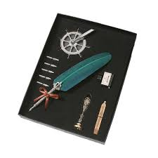 <b>1 Set European Style Retro</b> Quill Pen Suit Writing Ink Set Stationery ...