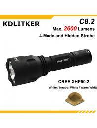 KDLITKER <b>C8</b>.2 Cree XHP50.2 2600 Lumens 5-<b>Mode LED</b> Flashlight